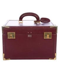 Cartier - Vintage Le Must De Train Case Travel Bag Gold - Lyst