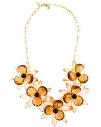 Kate Spade - Blooming Brilliant Statement Necklace Gold - Lyst