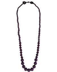 Erickson Beamon - Purple Pearl Necklace - Lyst