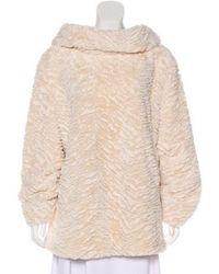 Adrienne Landau - Faux Fur Sweater - Lyst