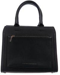 Victoria Beckham - Small City Leather Satchel Black - Lyst
