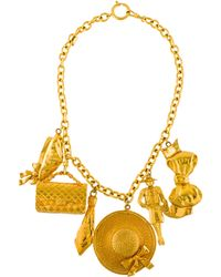 Chanel - Oversize Charm Statement Necklace Gold - Lyst