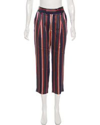 Smythe - Mid-rise Striped Pants Navy - Lyst