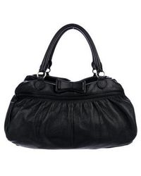 RED Valentino - Leather Handle Bag Black - Lyst