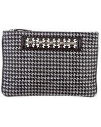 DANNIJO - Embellished Zip Clutch Black - Lyst
