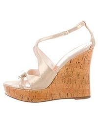 Dior - Sandal Wedges Tan - Lyst
