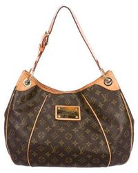 536e122c9014 Lyst - Louis Vuitton Monogram Galliera Pm Brown in Natural