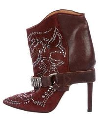 e0a456d50cc6 Lyst - Isabel Marant Studded Ankle Boots Silver in Metallic