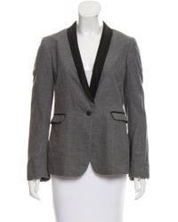 Rag & Bone - Structured Contrast-trimmed Blazer Grey - Lyst