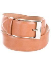 Michael Kors - Leather Buckle Belt - Lyst