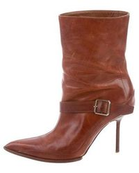 Narciso Rodriguez - Pointed Ankle-strap Booties Brown - Lyst