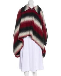 Vivienne Westwood Anglomania - Wool Striped Cape - Lyst