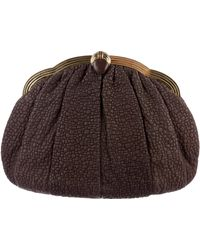 Judith Leiber - Embossed Leather Clutch Brown - Lyst