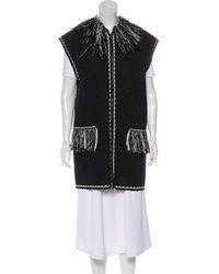 Chanel - Fringe-trimmed Knit Vest White - Lyst