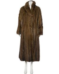 Dior - Vintage Russian Fisher Fur Coat Tan - Lyst