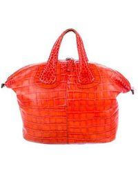 Givenchy - Embossed Medium Nightingale Bag Terracotta - Lyst