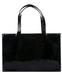 Helmut Lang - Patent Leather Handle Bag Black - Lyst