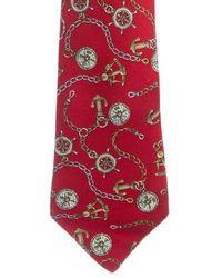 Chanel - Compass Print Silk Tie - Lyst