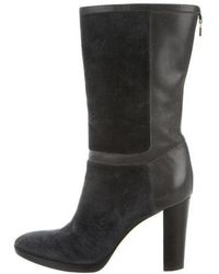 Loro Piana - Suede & Leather Boots Blue - Lyst