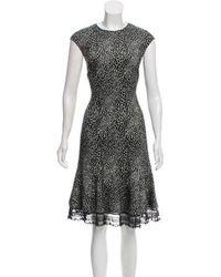 Behnaz Sarafpour - Wool Animal Print Dress Black - Lyst