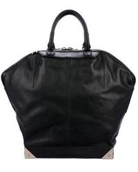 Alexander Wang - Leather Emile Tote Black - Lyst