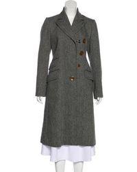 Vivienne Westwood Red Label - Wool Herringbone Coat - Lyst