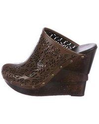 Diane von Furstenberg - Leather Round-toe Mules - Lyst