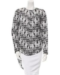 Thomas Wylde - Long Sleeve Button-up Top W/ Tags Black - Lyst