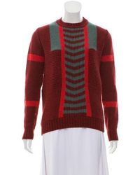 Orley - Alpaca Knit Sweater Red - Lyst