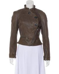 Vivienne Westwood - Asymmetrical Leather Jacket Neutrals - Lyst