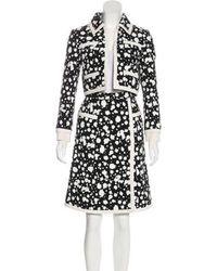 Chanel - Hand-painted Tweed Skirt Suit Black - Lyst
