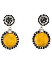 Tagliamonte - Mother Of Pearl & Spinel Venetian Intaglio Drop Earrings Silver - Lyst