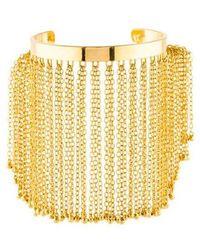 Arme De L'Amour - Tassel Cuff Bracelet Gold - Lyst