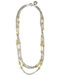 Giles & Brother - Archer Multi-chain Necklace Silver - Lyst