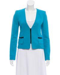 Emilio Pucci - Structured Collarless Blazer Turquoise - Lyst