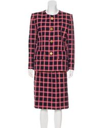 Givenchy - Checker Print Skirt Suit - Lyst