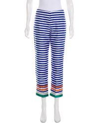Clover Canyon - Striped Mid-rise Pants Multicolor - Lyst