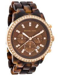 fc63534ccd4e Lyst - Michael Kors Glitz Madison Watch Silver in Metallic