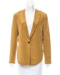 bb323e78a9135 3.1 Phillip Lim - Asymmetrical Silk Blazer W  Tags Tan - Lyst