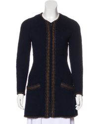 Chanel - Vintage Wool Coat Navy - Lyst