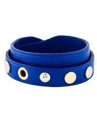 Louis Vuitton - Studded Leather Wrap Bracelet Gold - Lyst