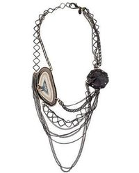 Erickson Beamon - Agate Multistrand Necklace Silver - Lyst