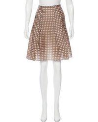 Jil Sander Navy - Printed Silk Skirt Olive - Lyst