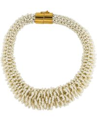 Emilio Pucci - Beaded Collar Necklace Gold - Lyst