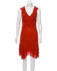 Moschino Jeans - Sleeveless Knee-length Dress Orange - Lyst