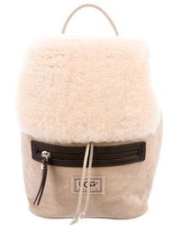 UGG - Suede Drawstring Backpack Tan - Lyst