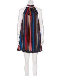 Adam Selman - Silk Sleeveless Trapeze Mini Dress - Lyst