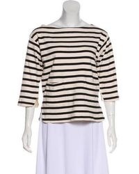 By Malene Birger - Striped Three-quarter Sleeve Top - Lyst