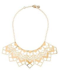 Tory Burch - Chevron Cutout Collar Necklace Gold - Lyst