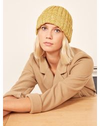 Reformation - Yellow 108 Yurt Beanie - Lyst